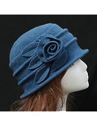 Amazon.it  cloche cappello - Blu   Cappelli e cappellini   Accessori ... bccce094ecaa