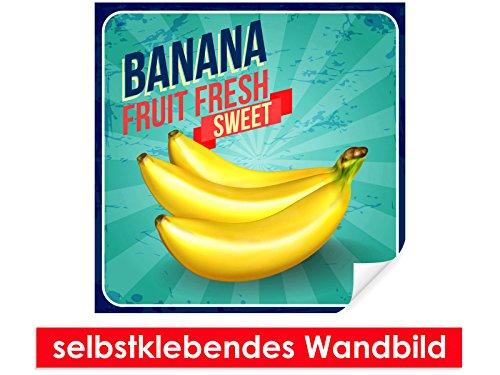 XXL-Tapeten selbstklebendes Wandbild Sweet Banana - leicht zu verkleben - Wallprint, Wallpaper, Poster, Vinylfolie mit Punktkleber für Wände, Türen, Möbel und alle glatten Oberflächen von Trendwände (Alle Obst-diät)
