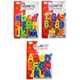 Kotak Sales Magnetic Educational Learning Alphabets Capital Small Letters & Mathematical Symbol Number Sets Return Gift For Kids Birthday Party (Set Of 3 Packs)