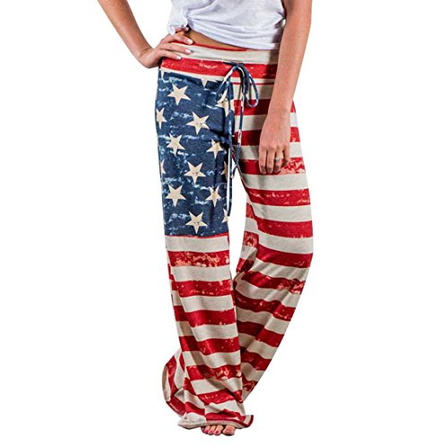 Freizeithose Flag - pattern USA (Damen) - XXXL