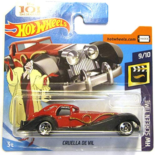 Hot Wheels FJW04 - Cruella de Vil 101 Dalmatiner (HW Screen Time 9/10) (Hot Wheels Kostüm)