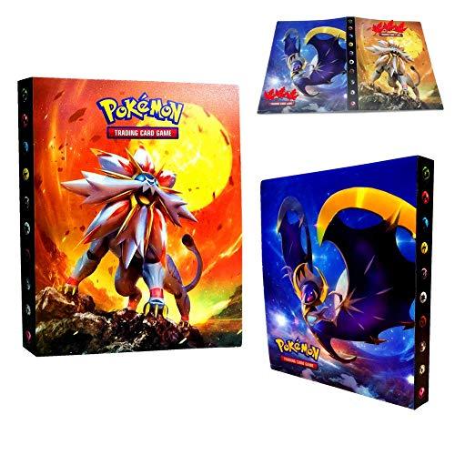 Dorara Pokemon Kartenhalter, Pokemon Karten GX EX Trainer Alben, Sammelkartenalben, 30 Seiten Kann bis zu 240 Karten aufnehmen, (Sonnengott)