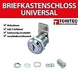 ToniTec® Briefkastenschloss Hebelzylinder universal M19 Modell: TTBKS1920
