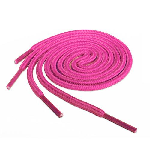Runde Schnürsenkel Giftware Turnschuhe, Hi-tops Fußballschuhe Laces Schnürsenkel, geeignet für alle Marken, darunter Nike Adidas Converse Puma Vans Reebok Dr Martens Erwachsene oder Kinder (Hi-top Converse Pink)