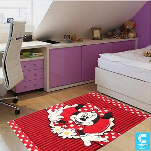 Alfombra para niños–Disney Minnie Mouse–tamaño 120x 170cm–pelo corto 13mm