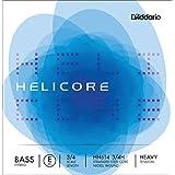 D'Addario Bowed Corde seule (Mi) pour contrebasse hybride D'Addario Helicore, manche 3/4, tension Heavy