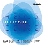 D\'Addario Bowed Corde seule (Mi) pour contrebasse hybride D\'Addario Helicore, manche 3/4, tension Heavy