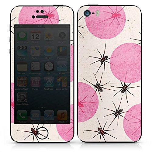 Apple iPhone SE Case Skin Sticker aus Vinyl-Folie Aufkleber Spinnen Punkte Insekten DesignSkins® glänzend