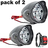 Petrox 9 LED Bar Light Universal Bike And Car Fog Light, Work Lamp for Off Roading – FREE ON/OFF SWITCH - Set Of 2 (15 W)