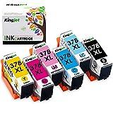 Kingjet 378XL Druckerpatronen Ersatz für Epson 378XL 378 Kompatibel mit Epson Expression Photo XP-8500 XP-8505 XP-15000