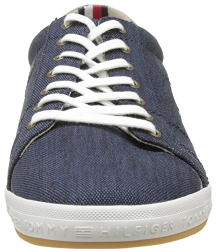 Tommy Hilfiger H2285owell 1d2, Baskets Basses Pour Hommes Bleues (midnight 403)