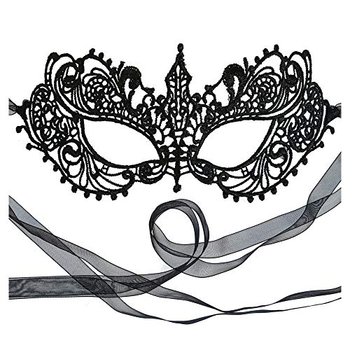 Gorgeous All Lace Goddess Black Masquerade Mask by Samantha Peach (Masquerade Black Masken Lace)
