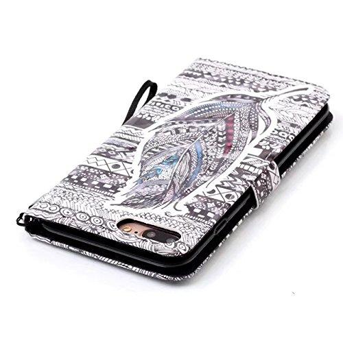 iPhone 7 Plus Hülle, iPhone 8 Plus Hülle, Valenth Leder 3D Multi-Partern Brieftasche Cover [Card Slots] Schutzhülle Cover für iPhone 8 Plus / iPhone 7 Plus 11#