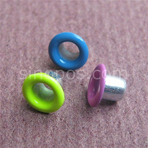 Generic yellow : Metal Eyelets Paint colored, steel rivets colorful scrapbooking binding hole quilting garment shoes leather sewing DIY craft