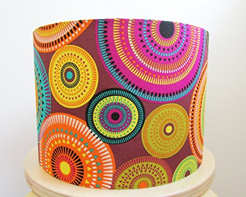 lampshade-hand-rolled-in-a-multicoloured-geometric-fabric-by-micheal-miller