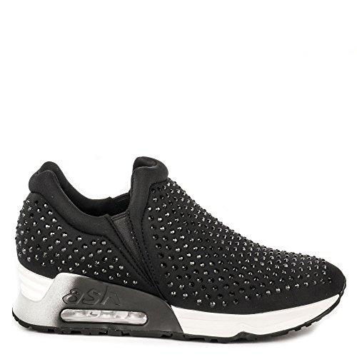Ash Lifting Sneakers Black Neoprene - 6 UK