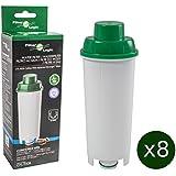 8 x FilterLogic CFL-950B - Cartouche cafetière compatible DeLonghi DLS C002 / DLSC002 / SER 3017 / SER3017 / 551329811 - pour machine à café expresso modèles ECAM ETAM EC800 EC860 EC680 BCO