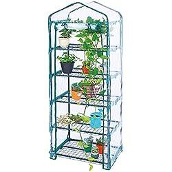 Worth garden 5 couches étagère mini serre chaude couvercle en PVC transparent adapté à la croissance de la fleur de jardin - 69 (L) X49 (W) X193 (H) CM- # G304A00