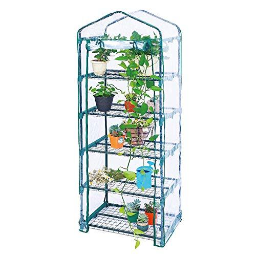 Worth Garden Estantes 5 niveles Mini Invernadero PVC