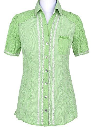 Spieth & Wensky - Kurzarm Damen Trachten Bluse in verschiedenen Farben, Belau (251041-0916) Maigrün (4247)