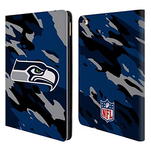 Preisvergleich Produktbild Offizielle NFL Camou Seattle Seahawks Logo Brieftasche Handyhülle aus Leder für Apple iPad Air 2