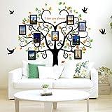 Wandaufkleber 240cm80ZollStammbaumFotorahmenAbnehmbareWandaufkleber Liebe Baum Liebe dich Für immer Vogel Schmetterling Aufkleber