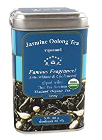 Suwirun Thai Jasmine Organic Oolong Tea Anti-oxidant & Cholesterol 60g.