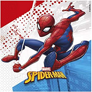 Procos 90991 - Servilletas, 20 Unidades, diseño de Spiderman, Multicolor