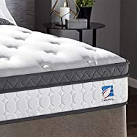 Ej. Life Double Mattress, 4FT6 Double Pocket Sprung Mattress with Memory Foam and Knitted Fabric - 9 Zone Orthopaedic Mattress