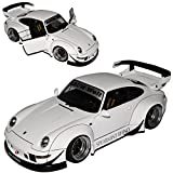 AUTOart Porsche 911 993 Carrera Coupe RWB Coupe Weiss Rauh-Welt 1993-1998 78150 1/18 Modell Auto