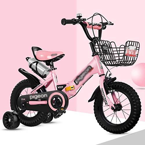 YJTGZ Fahrräder Indoor-Heimtrainer Kinder-Klapprad Kinder-Outdoor-Mountainbike Junge Und Mädchen, Die Dreirad Fahrrad Fahren Fahrrad Als Geschenk Für Kinder (Color : Weiß, Size : 12inches)