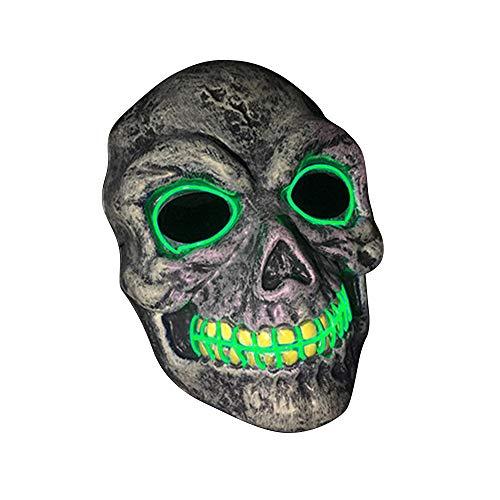 SOUTHSKY LED Maske Schädel Vollmaske EL Draht Leuchten Für Halloween Kostüm Cosplay Party (Green)