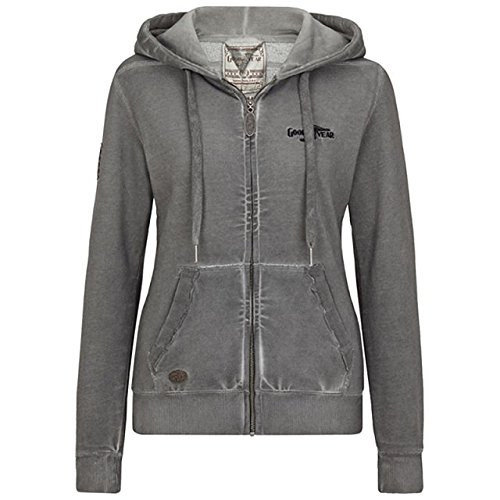 Goodyear Damen Zip Hoody Portage, Color:dark grey;Größe:L