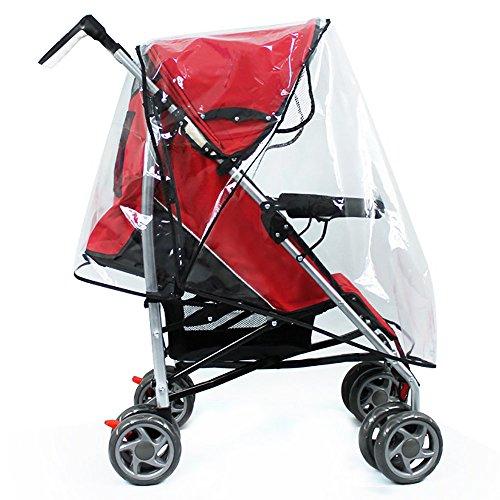 Hysagtek baby travel-baby travel-copri-pioggia per passeggino, universale, motivo: pioggia, colore: trasparente