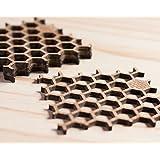 Untersetzer aus Bambus in Bienenwaben-Form - Für Biergläser oder Tassen - Natürliches Holz - Umweltfreundliche Tischdekoration