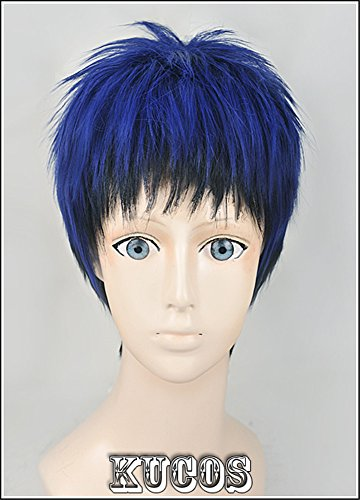 (LanTing Cosplay Perücke Kuroko no Basuke Aomine Daiki Blue Mix Cosplay Party Fashion Anime Human Costume Full wigs Synthetic Haar Heat Resistant Fiber)