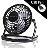 "SAVFY 4"" Portable Retro Mini Plastic USB Fan Silent Office / Home Light-Weight Desktop Fan Cooler For Laptop"