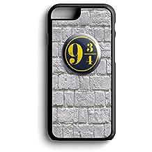 Harry Potter plataforma 93/4Plataforma para la pared iPhone 6/6S 11,94cm negro plástico duro funda/cubierta