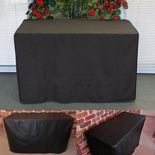 KING DO WAY Schutzhülle Abdeckplane Gartenmöbel Sitzgruppe rechteckig wasserdicht Abdeckung,Gartentische und Möbelsets (123cm x 61cm x 72cm Schwarz) Polyester