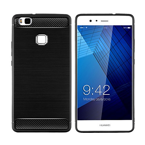 Coque Huawei P9 Lite , Huawei P9 Lite case [Rugged Armor] Resilient Silicone [Noir] Ultimate protection de drops and impacts Housse Etui Coque Pour Huawei P9 Lite (2016) inch Noir