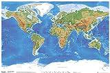 GB eye LTD, Planetary Visions, Mapa Físico del Mundo, Maxi Poster, 61 x 91,5 cm