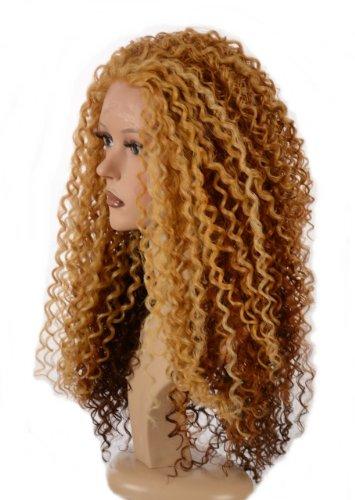 mit Locken in Auburn Blond| Spitzen Front Queen B Perücke | Im Stil von Beyonce| 3 Farben (Auburn Perücken)