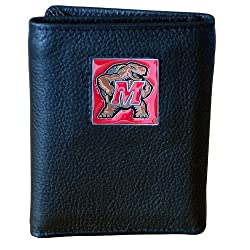 NCAA Maryland Terrapins Genuine Leather Tri-fold Wallet
