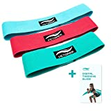 Victorem Booty Hip Band Theraband Set - 3X Fitnessband für Bein- und Po-Training mit Workout Guide...