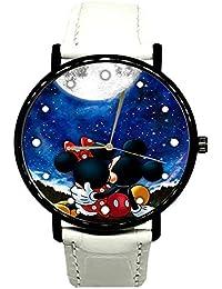 EREMITI JEWELS Reloj de Pulsera Minni y Mickey Mouse Under The Moon Modelo Idea Regalo Hombre