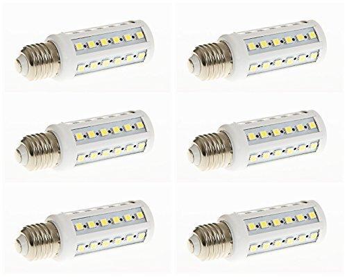 Pack 6 - 9w 42x 5050 E27 Ajuste Base Lámpara LED