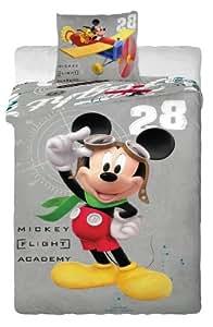"""Parure de lit housse de couette Mickey Disney 100% coton """"Pilote d Avion"""""""