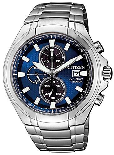 Citizen Herren Analog Quarz Uhr mit Titan Armband CA0700-86L
