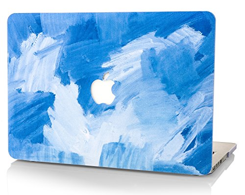 "StarStruck MacBook Air 13 zoll Hülle | Schutzhülle Case Cover für Apple MacBook | Ölgemälde Kollektion (MacBook Air 13"", Blau - Wasserfarbe) (Macbook Air Case Blau)"