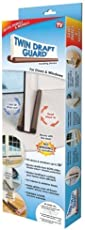 Lifestyle-You Twin Door Draft Guard. Stop Unwanted Light And Stop Escaping Of Cool Air From Air Conditioner Split Or Window